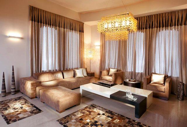 客厅装修墙体白色为主的搭配沙发和窗帘一定要柔和为